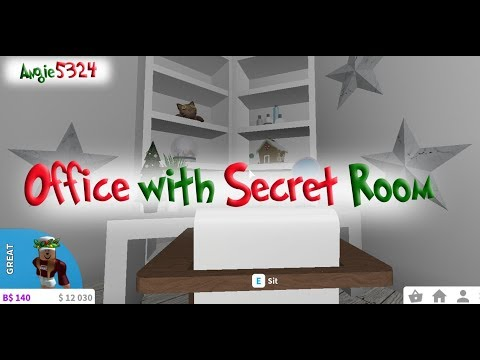 Welcome to Bloxburg Christmas Build #9: Office with secret room