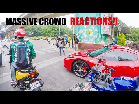 Xxx Mp4 Crowd Went Crazy Seeing RSM S FERRARI After A Long Time Gopro POV Bangalore 3gp Sex
