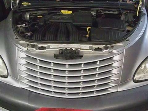 Crysler Pt Cruiser w 2.4l engine 01 pt.1 overheat diagnose, remove t-stat center, flush system