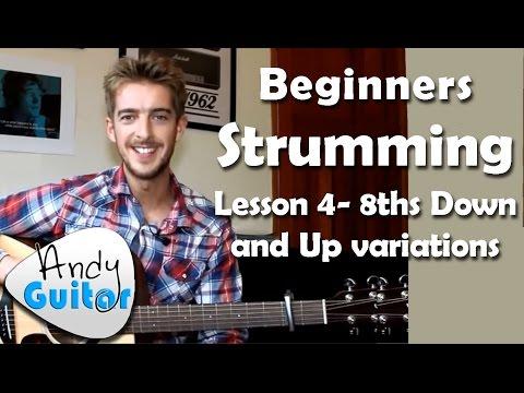 Beginners Guitar Strumming Patterns 3 - Down and Ups - Tutorial #6