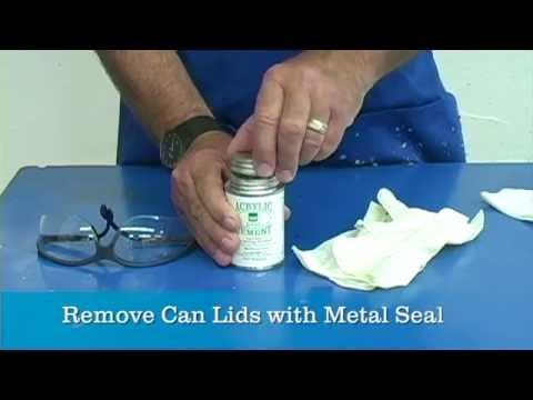 Remove Can Lids Wth Metal Seal