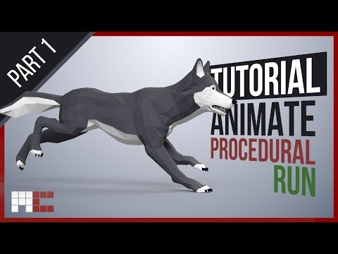 Wolf - Animating Procedural Run Cycle in 15 Minutes (3ds Max CAT) Part 1