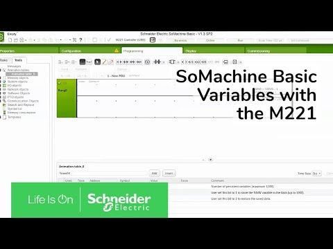 Setting Persistent Variables with the M221 in SoMachine Basic   Schneider Electric Support