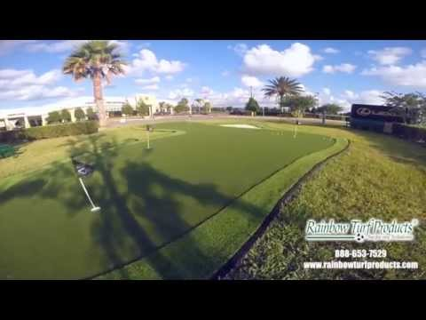 Synthetic Turf Putting Green Installation