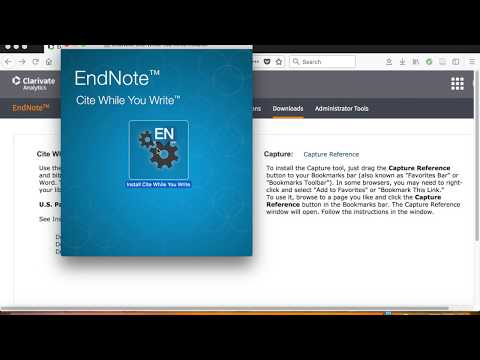 Inserting citations from EndNote into Word documents (MAC)