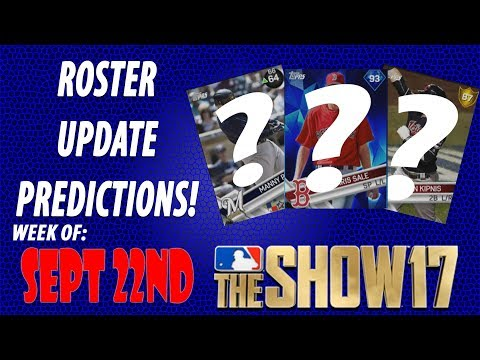 MLB The Show 17 Roster Update Predictions Sept 22nd