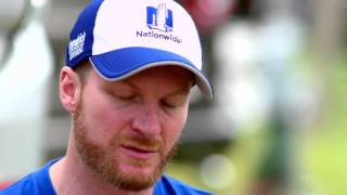 Dale Earnhardt Jr. paying homage to father
