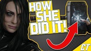 How Hela BROKE Mjolnir in THOR: RAGNAROK!