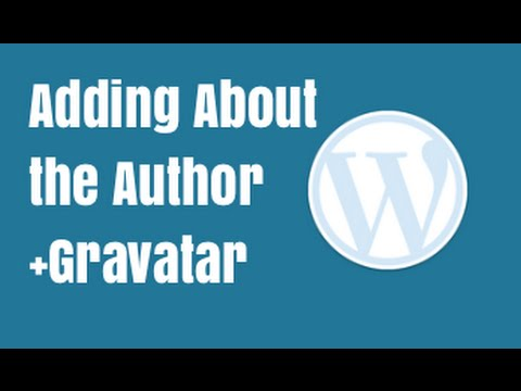Adding About the Author Section and Gravatar in Wordpress   Genesis