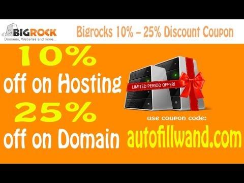 Bigrocks Domain and Hosting Discount Coupon