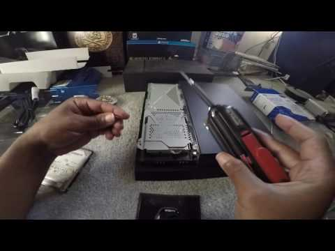 PLAYSTATION 4 HOW TO INSTALL SEAGATE SATA 1TB GAME HARD DRIVE SSHD UNBOXING 1080p 60fps 11/4/2016