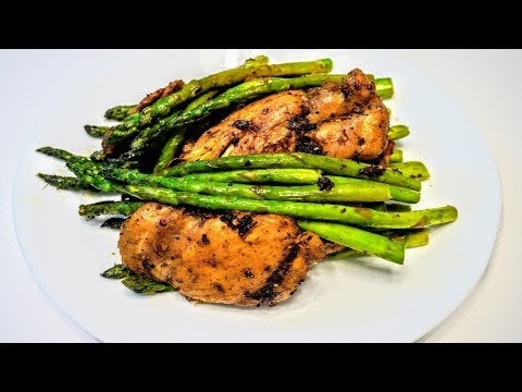Garlic Herb Chicken and Asparagus | Chicken and Asparagus Stir Fry | How to Cook Asparagus in Pan