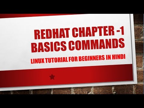 Basic command in redhat linux rhel 6 part  in hindi part-1 step by step with example
