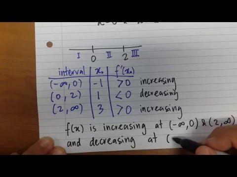 First Derivative Test: Increasing/Decreasing Interval