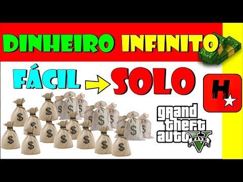 DINHEIRO INFINITO GTA V ONLINE SOLO | CARROS GRÁTIS SEM AJUDA PS4 XBOX ONE PC PS3 XBOX 360 INICIANTE