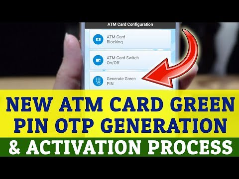 SBI Green Pin OTP Generate Using Android App | New ATM Card Activation