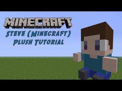 Minecraft Tutorial: Steve (Minecraft) Plush
