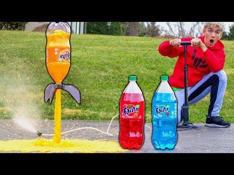 SODA ROCKET MOD!! (EXPLODING FANTA)