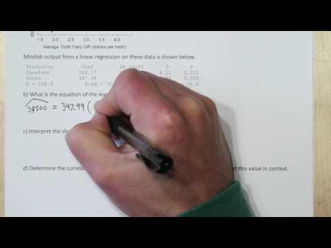 Computer Output for Least-Squares Regression & Interpreting Slope & Correlation