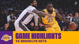 HIGHLIGHTS | LeBron James (29 pts, 12 reb, 9 ast) vs. Brooklyn Nets