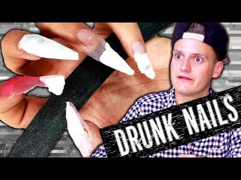 Applying Acrylic Nails DRUNK - Philip Green