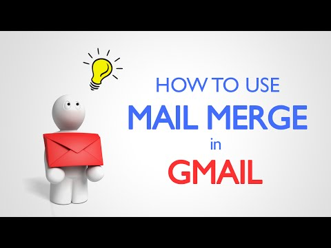 How to use mail merge in Gmail?