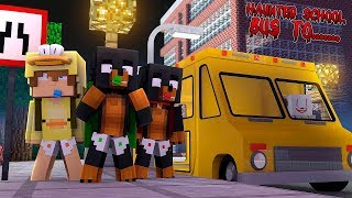 Minecraft MY HAUNTED SCHOOL BUS TO..... PENNY WISE IT HAUNTED SCHOOL!!