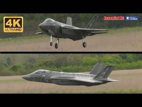 LARGE SCALE RC Lockheed Martin F-35 Lightning II turbine jet (DerJet prototype) [*UltraHD and 4K*]