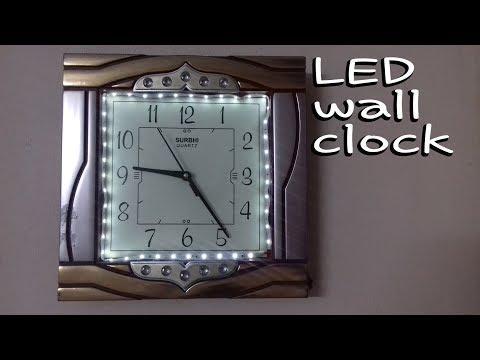 ✔🕒Wall clock make decoration  ideas || led clock circuit || led display||  clock gift item