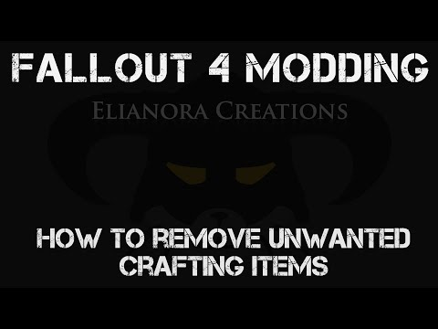 How to remove unwanted crafting items in Fallout 4