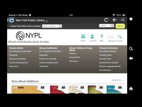Downloading NYPL eBooks with the Kindle Fire