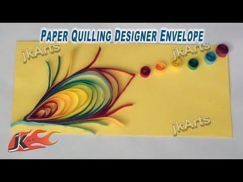 DIY Paper Quilling Feather Envelope - JK Arts 259