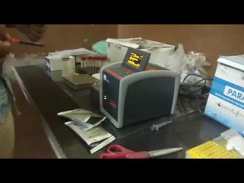 Live hiv cd4 test machine working