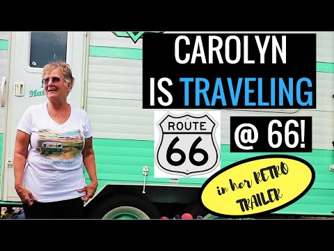 Meet Carolyn! She's Traveling Route 66 at Age 66 in Her Retro...