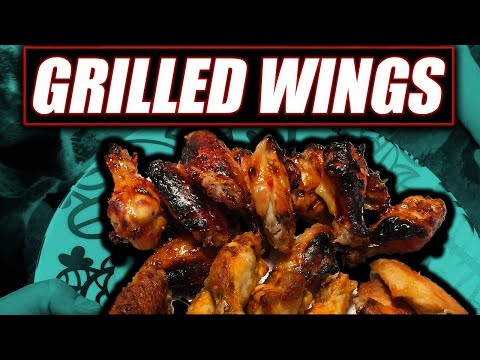 Chicken Wings cooked on the gas Grill easy recipe
