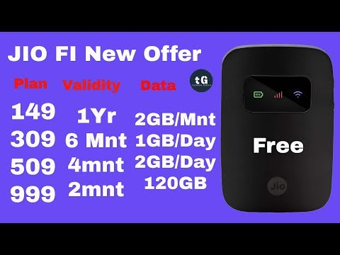 Jio free for 1 Year | Jio Launch  4 new plans only for new JioFi Customer !!!