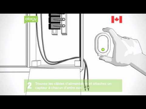 Guide d'installation du moniteur d'énergie sans fil efergy (US & Canada)