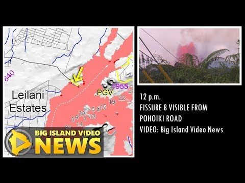 Hawaii Eruption: Lava Activity Map (Jun. 2, 2018)