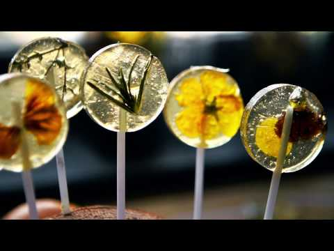 Herb and Flower Studded Lollipops