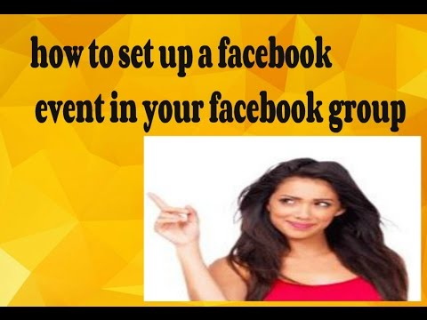 how to setup a facebook event in your facebook group