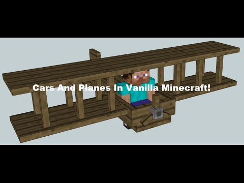 Cars And Planes In Vanilla Minecraft! NO MODS - Minecraft Redstone