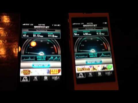 iPhone 5: AT&T vs Verizon 4G LTE Speed Test
