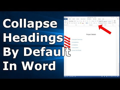 [FIXED] Headings In Microsoft Word Do Not Stay Collapsed
