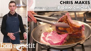Chris Makes Sweet and Saucy Pork Chops | From the Home Kitchen | Bon Appétit
