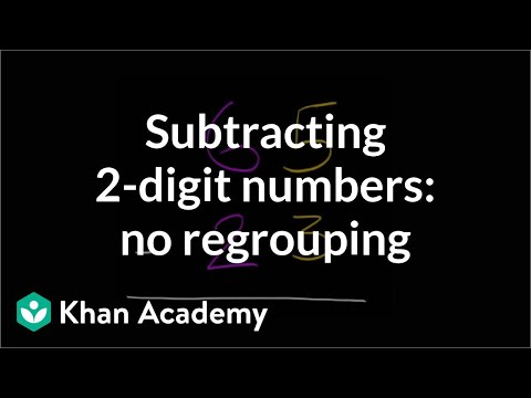 Subtracting two digit numbers without regrouping | Early Math | Khan Academy