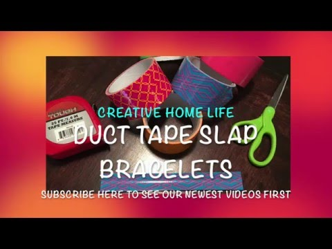 How to make DIY Duct Tape Slap Bracelets (Easy)