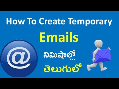 How To Create Temporary / Disposable Emails In Telugu II Telugu Tech Video Tutorials II