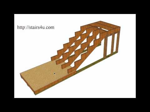 How To Build And Frame Stairs With Landings – Example 1