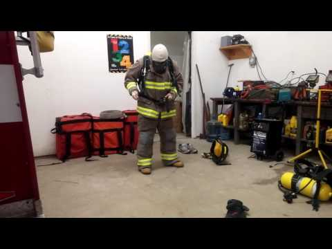 Firefighter Getting Dressed 68 seconds, Having some fun while we practice!