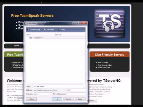 How to make your own TeamSpeak Channel